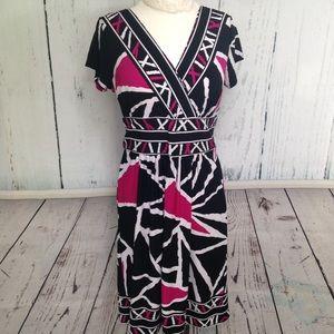 Pink, White & Black Flattering Dress